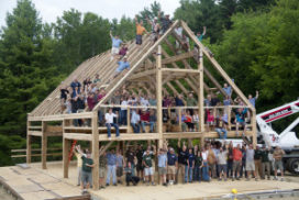 Ken Burns studio barn raising