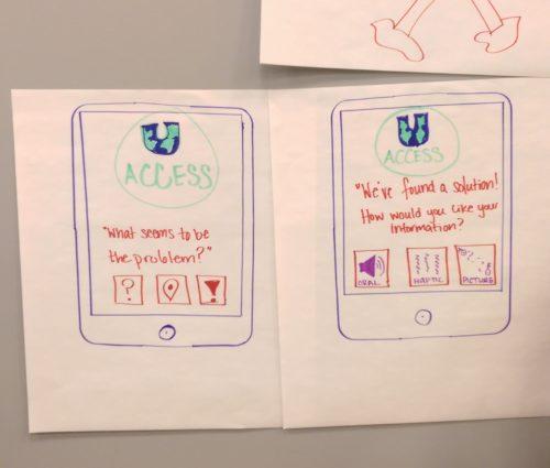"Team Global Access Storyboards on ""U Concierge"" global access app"