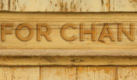 Carved wooden sign - Time for Change