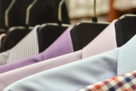 Dress shirts on a rack