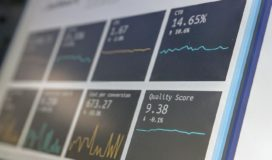 Close up of a marketing data dashboard on a laptop