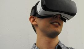 A man wearing a VR mask