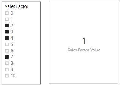 Return value when multiple slicer values are selected
